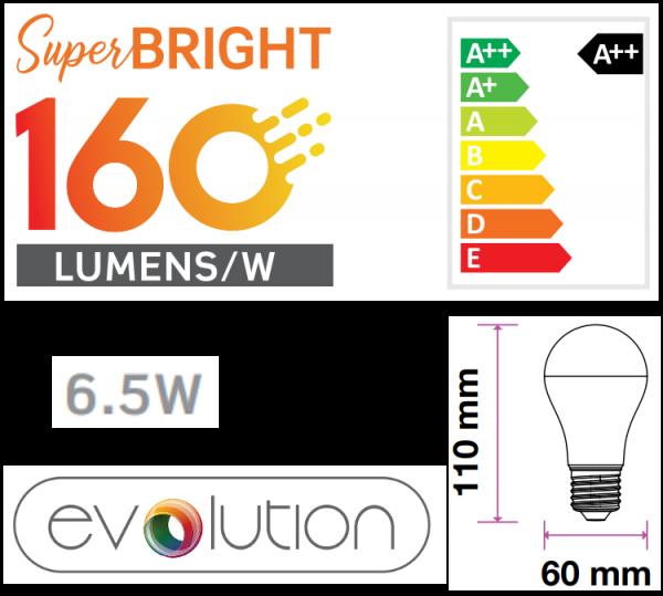 LED Superhell - E14 - E27 Fassung bis zu 160 lm/W